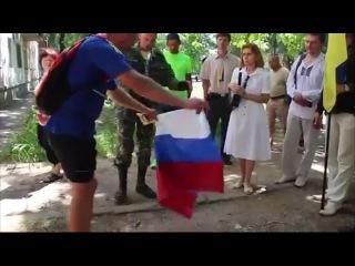 Как жители Юго-Востока Украины реагируют на русский триколор Видео | Николаев