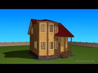 Проект дома из профилированного бруса 7х7
