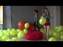 Sexy russian girls balloons pops