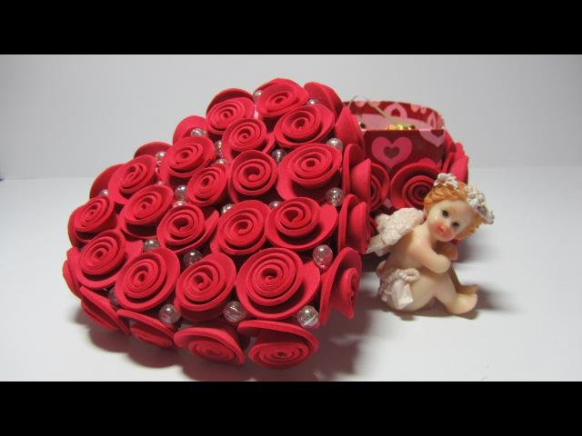 Tutorial Caja con rosas de goma eva.