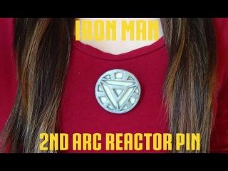 2nd Arc Reactor Pin {Iron Man} - Polymer Clay!