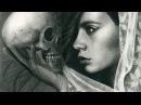 Speed Drawing - Looking Miles Into The Past - Charcoal Profile Portrait Skull