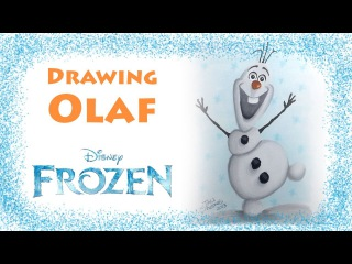 Drawing Olaf from Frozen - Copic markers speed drawing