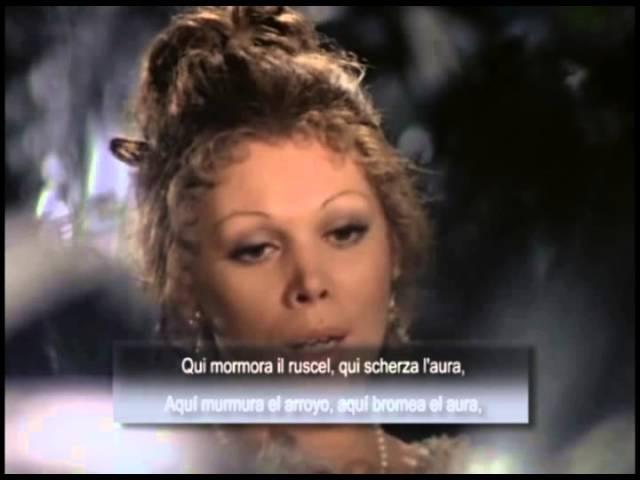 Mirella Freni «Giunse alfin il momento - Deh, vieni, non tardar». Las Bodas de Fígaro, Mozart
