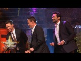 Michael Fassbender, Hugh Jackman &amp James McAvoy Dance to