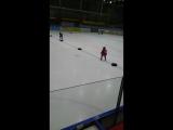Первая тренировка Никиты в хоккее.