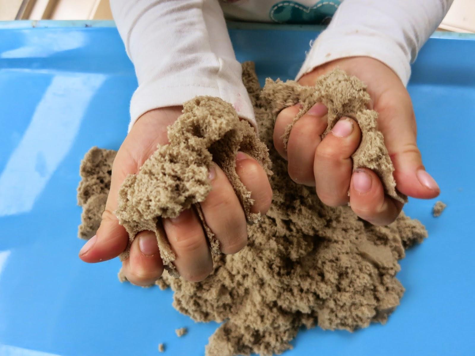 Как сделать кинетический песок фото