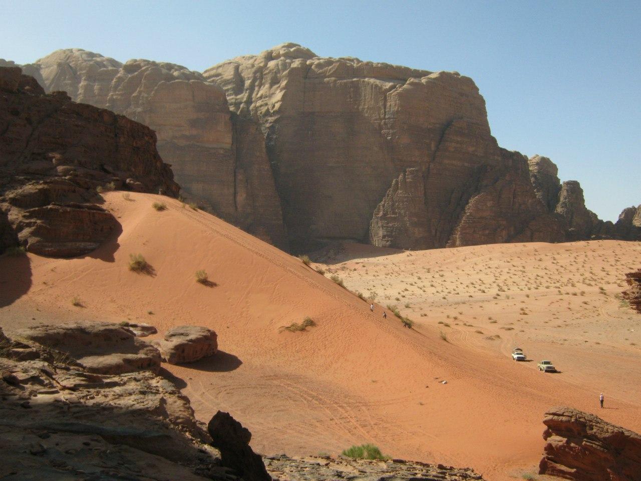 дюны и туристы в Вади Рам
