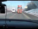Русские водители могут все даже ехать задом на фуре