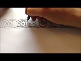 How to Draw Celtic Patterns 126 - Viking Interlace Triskele Part 6 of 6