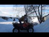 Квадроцикл STELS ATV 300 - На зимнем тест-драйве! (Компания