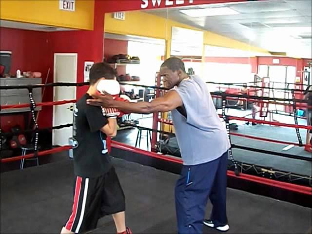 Little Chris Floyd Mayweather SR 1 on 1 Session - Sponsored by Glove Game Boxing Gabe Ostrovsky