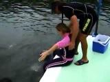 Дельфин насилует девушку! видео прикол мега приколы ржака жесть
