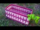 ▬► Газетное плетение Узор столбики с накидом