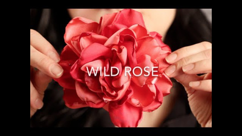 How To Make A Fabric Hair Flower   Beautiful Wild Rose!