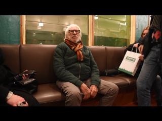 Пьер Ришар в московском метро