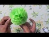 Декоративный шар из бумаги.