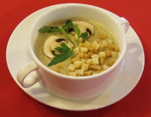 Суп крем пюре из шампиньонов рецепт