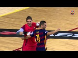 Amazing goal by FC Barcelona's Futsal Goalkeeper Cristian vs Llevant