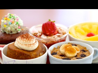 5 NEW 1 Minute Microwave Mug Cakes CELEBRATION! (includes Vegan, Egg-Free & Gluten-Free Recipes)