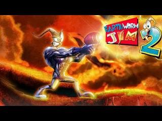 Червяк Джим 2 (Earthworm Jim 2) прохождение SEGA