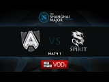 Alliance vs Spirit, Shanghai Major, Group B, Game 1