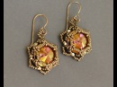 Sidonia's handmade jewelry Sunset Glare Beaded Earrings