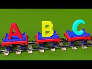 ABC song for baby kindergarten children. Learn alphabet with Choo-Choo the Train