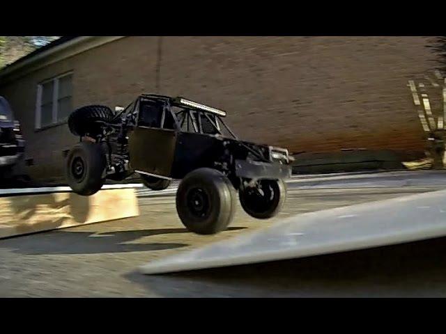 Mini Zeus RC Trophy Truck Shock Testing on 4in Whoops
