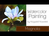 Watercolor Painting Tutorial - Magnolia