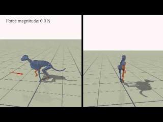 Locomotion Skills for Simulated Quadrupeds