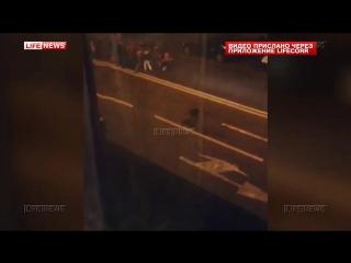 Массовая драка выходцев из Африки с футбольными фанатами в Петербурге