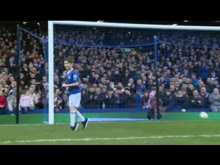 9-year-old george scored at the gwladys st end after being invited to the game by gerar deulofeu.