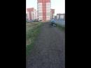 Данил покоряет горки на велосипеде