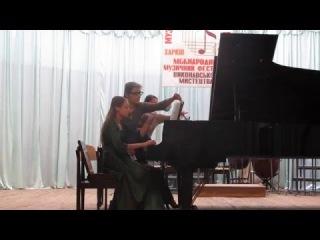 Наталия Леонтьева и Валерия Кизка - Диптих для 2 фортепиано (Л. Шукайло)