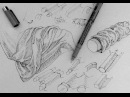 Pen and Ink Drawing Tutorials | How to draw drapery and clothing folds