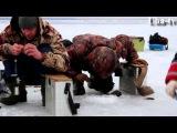 Ловля окуня по первому льду на Волге. Подводное видео. Uha-tv