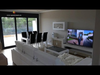 Современный дом - вилла в Ла Нусия, Испания, Коста Бланка. Новый дом в стиле миним ...