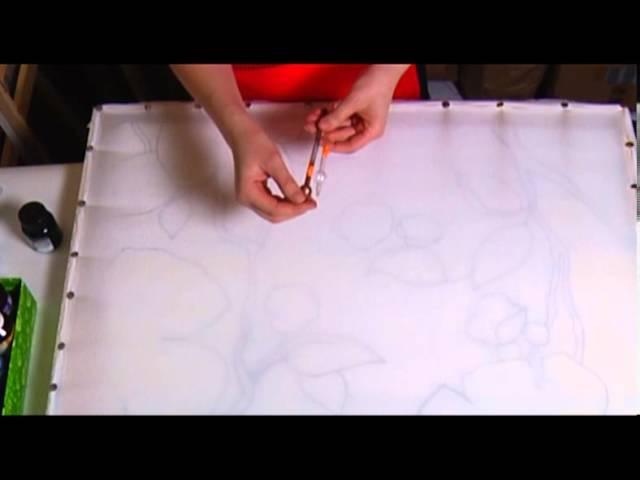 Как натягивать ткань на подрамник И наводить резерв