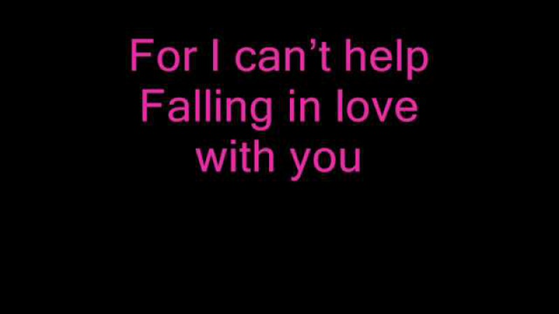 ♫Can't Help Falling In Love_ Andrea Bocelli Kathrine McPhee_With Lyrics♫