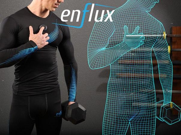 В спортивный костюм Enflux Smart Clothing встроено десять датчиков движения