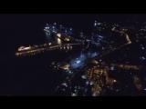 Ночной Туапсе с высоты птичьего полета.