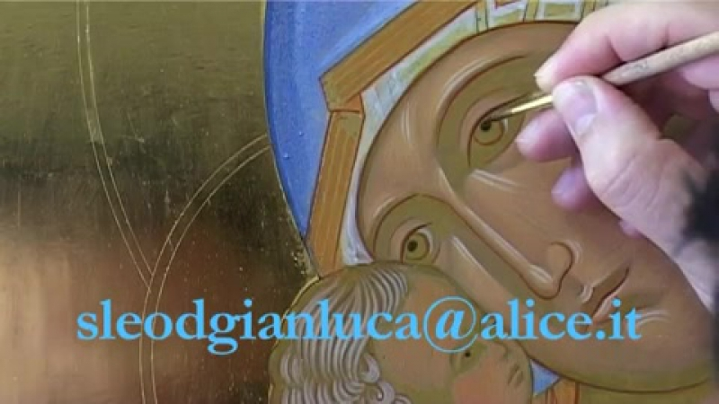 5 - Dipingere licona della Madonna di Vladimir (Fase 5 grafia)