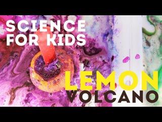 Easy Science Activity for Kids: Lemon Volcanoes