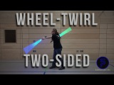 Radwirbel beidseitig - Wheel-Twirl two-sided - Dual Lightsaber Trick