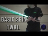 Basic-Spin Wirbel - Basic-Spin Twirl - Single Lightsaber Trick