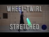 Radwirbel einseitig gestreckt - Wheel-Twirl stretched - Dual Lightsaber Trick