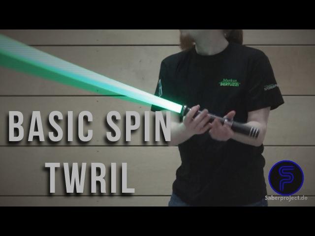 Basic-Spin Wirbel - Basic-Spin Twirl - Single Lightsaber Trick