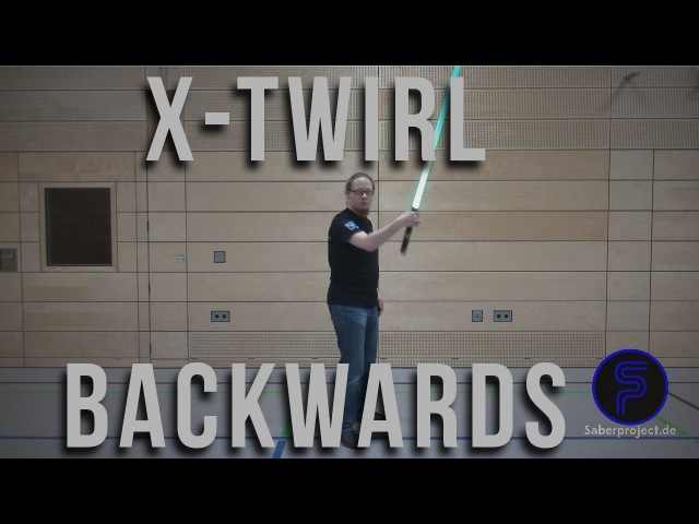 X-Wirbel rückwärts - X-Twirl backwards - Single Lightsaber Trick