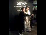 "Some Lost Kristen on Instagram: ""Short vid of Kristen presenting the award to Kelly--from Variety's snapchat #kristenstewart #sundance #premiere #sundancefilmfestival…"""